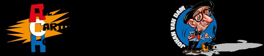 Sneltekenaar karikaturist Johan van Dam Logo